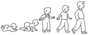 enfant en marche
