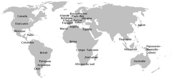 implantation PRH dans le monde