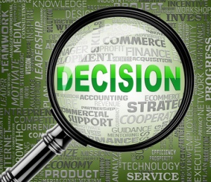 Decision Magnifier Indicating Choose Decided 3d Rendering